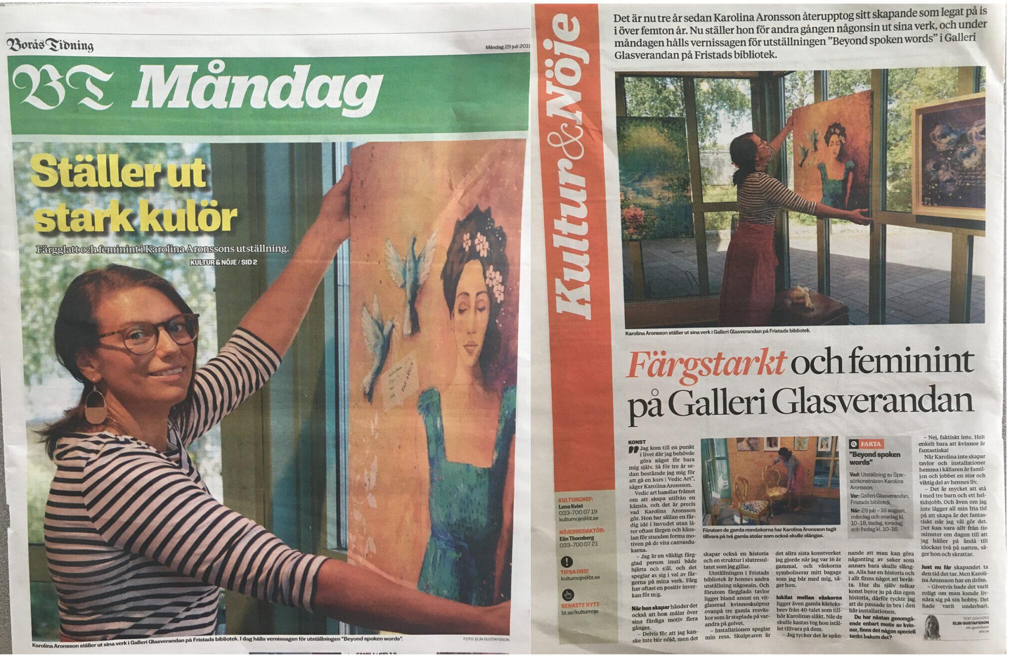 Färgstarkt på Galleri glasverandan
